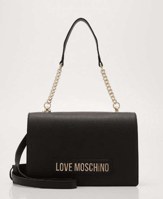 Love moschino borsa smooth tas zwart