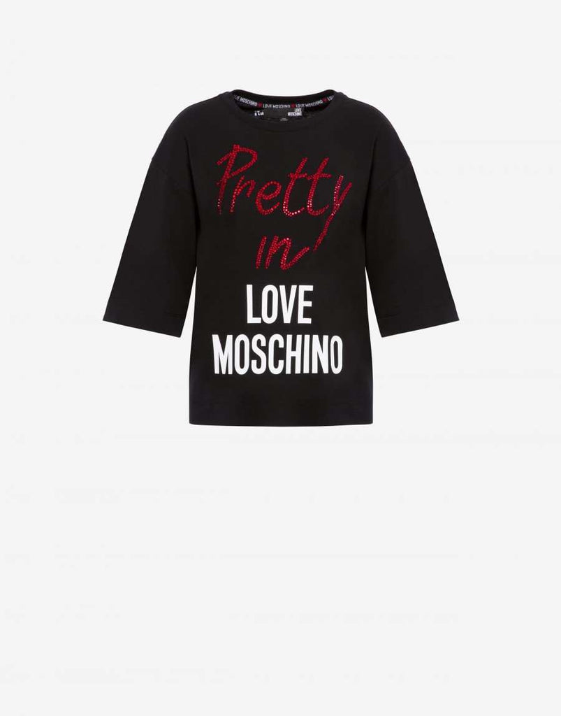 Love Moschino T-shirt Pretty In Love Moschino Zwart