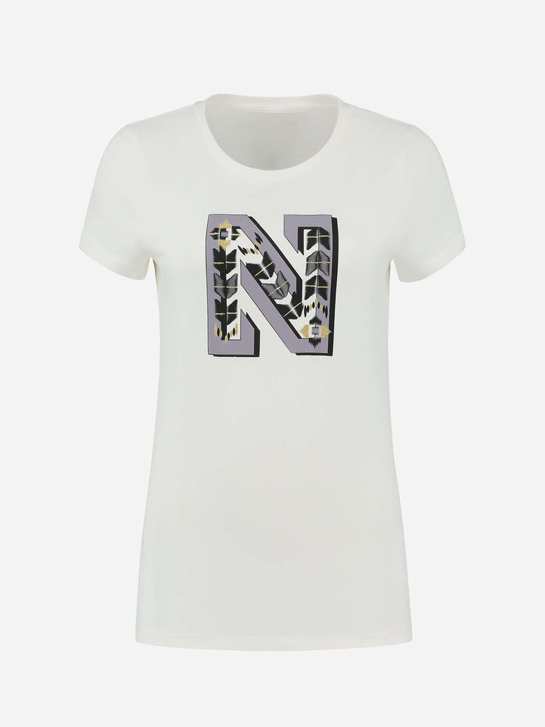 Nikkie T-shirt N Embroidery Wit