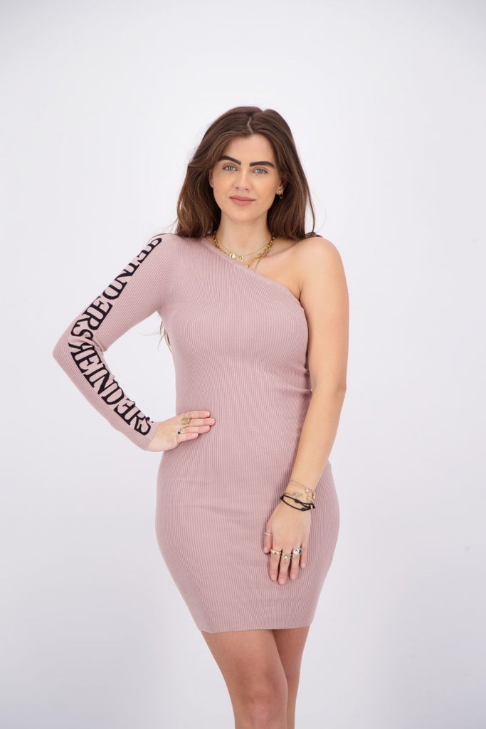 Reinders Laila One Shoulder Dress Mauve