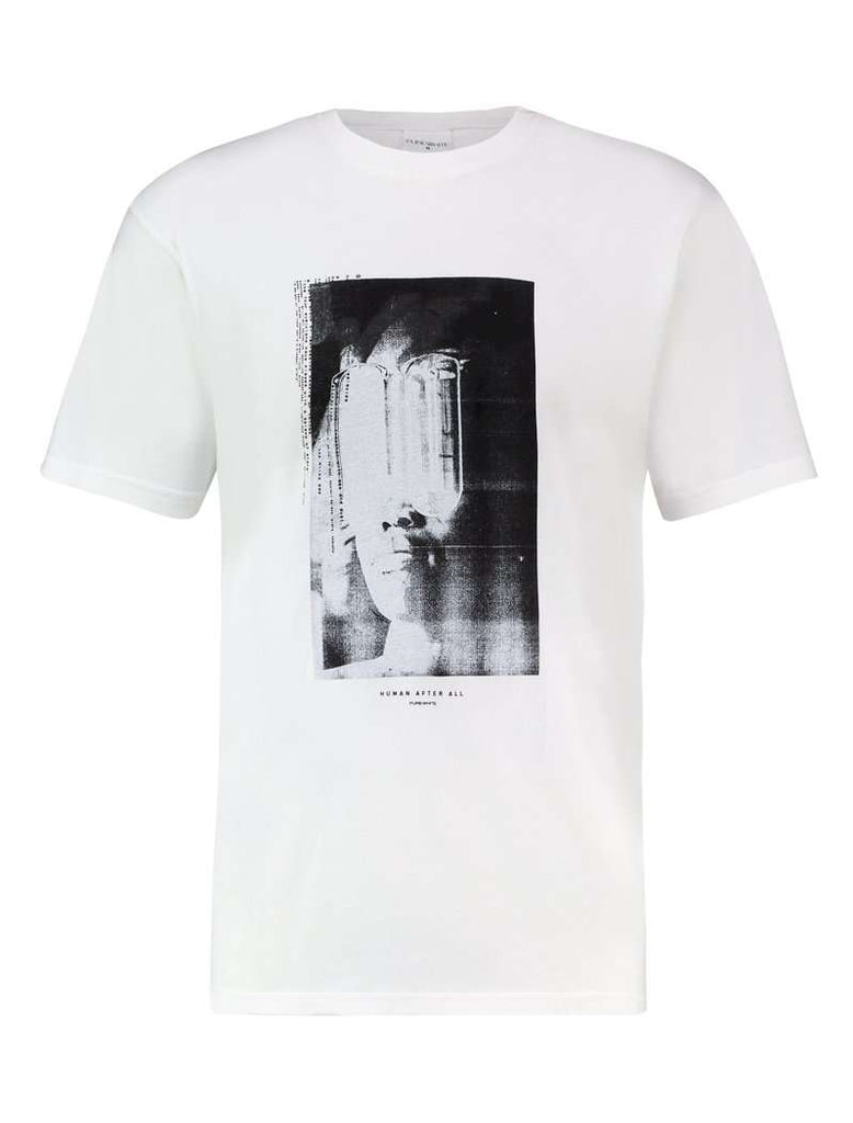 Purewhite t-shirt human after all wit