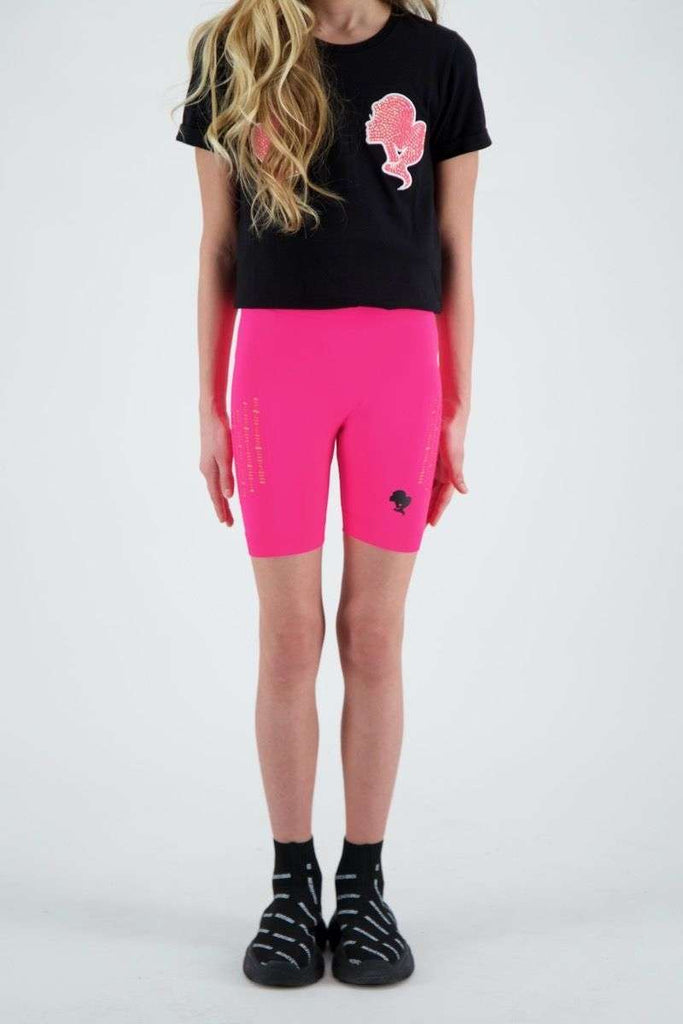 Reinders KIDS destroyed legging short neon roze