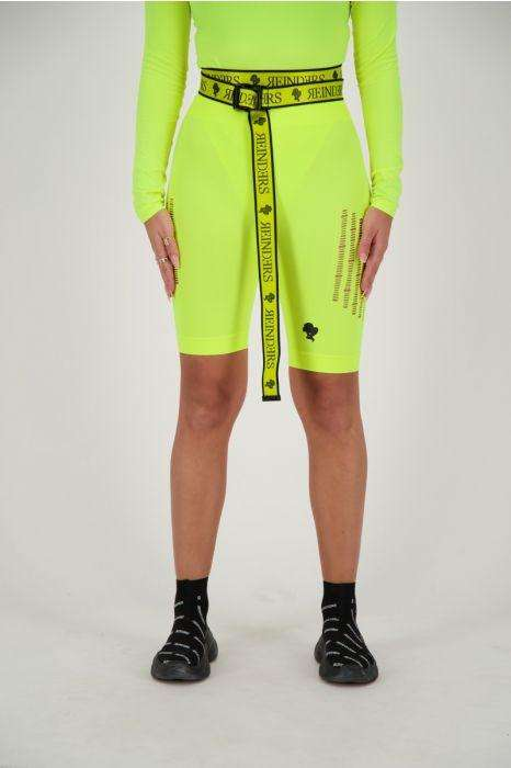 Reinders Sport Legging Short Destroyed Neon Geel