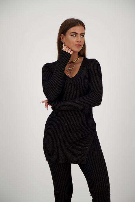 Reinders Twin Set Lurex zwart