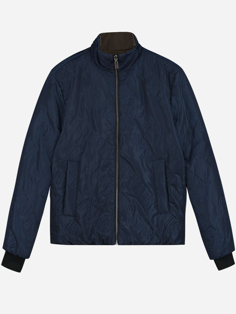 Sustain puffer Jacket Reversible Blauw