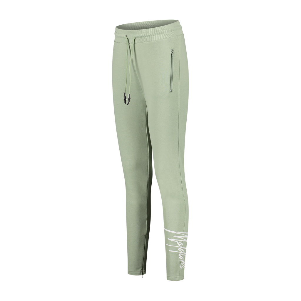 Malelions Dames Signature Trackpants Sage Groen