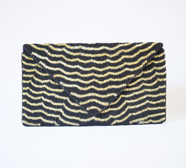 Black & Gold Clutch Bag