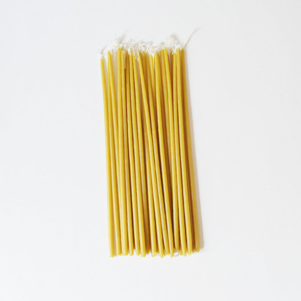 Pure Greek Beeswax Taper Candles - set of 25 - Tala Collections