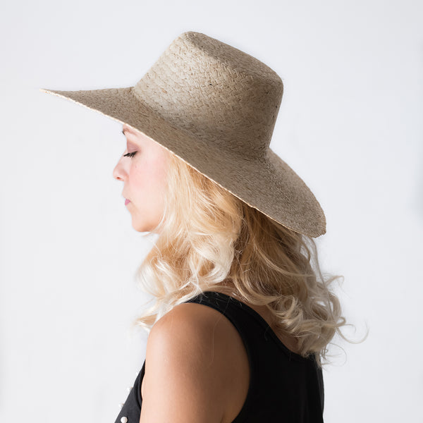 Braided Natural Raffia Hat - Tala Collections