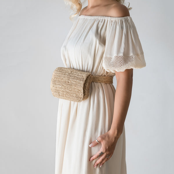 Raffia Belt Bag