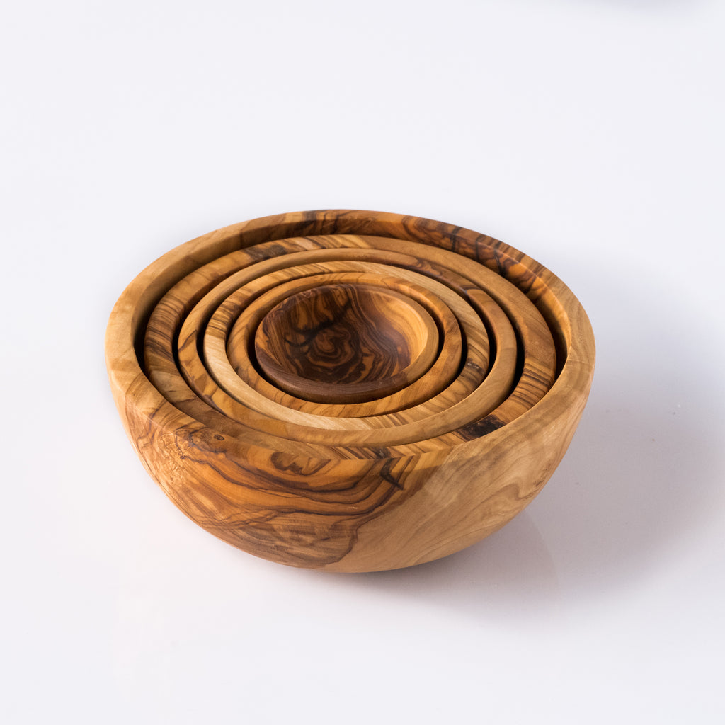 Olive Wood Nesting Bowl Set