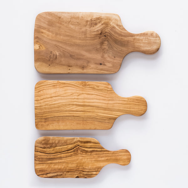 Olive Wood Paddle Chopping Board/Serving Platters