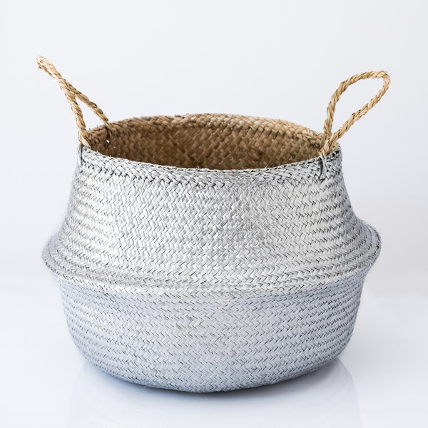 Silver Seagrass Belly Basket