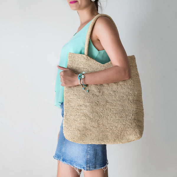 Raffia shopper bag