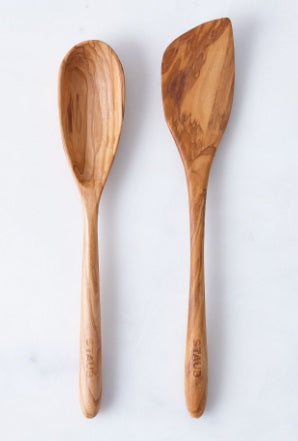 Olive Wood Spatula & Spoon Set