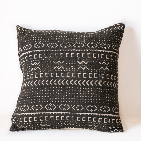 Black Mudcloth Cushion No.5