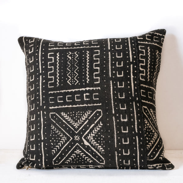 Black Mudcloth Cushion No.4 - Tala Collections