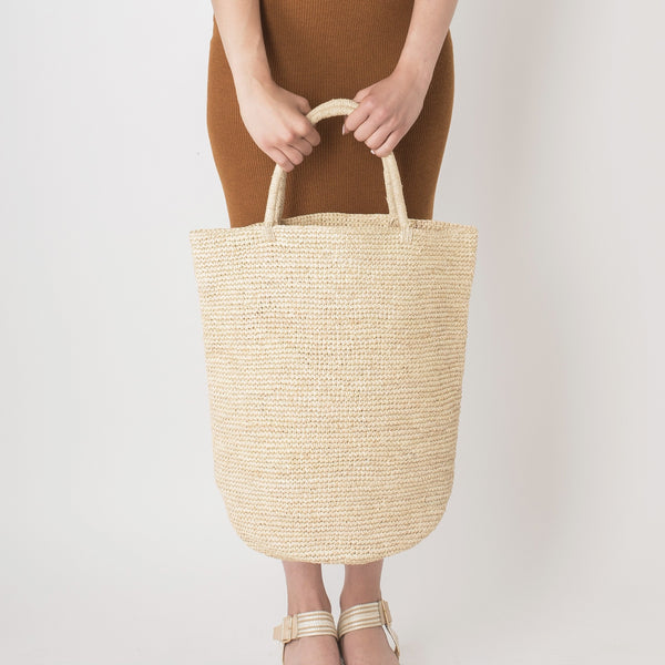 Extra Large Natural Raffia Tote Bag - Tala Collections