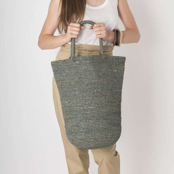 large grey beach tote