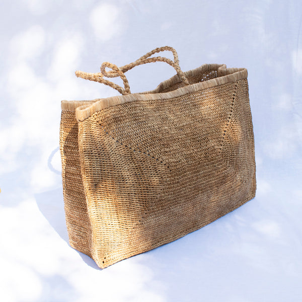 Large Crocheted Raffia Beach Bag - Tea - Tala Collections