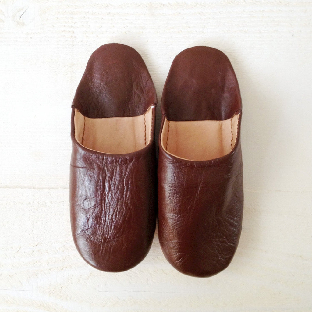 Moroccan Leather Babouche Slippers - Tala Collections