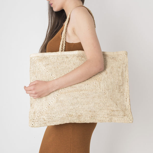 Large Raffia Bag - Natural