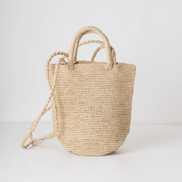 raffia shoulder tote bag