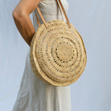Large Round Raffia Bag - Tala Collections