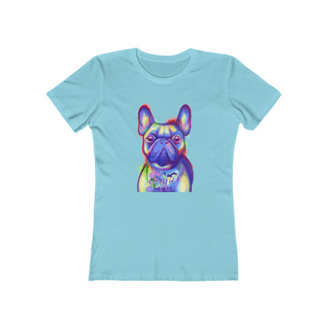 French Bulldog Face Women's Boyfriend Tee - 14 Colors