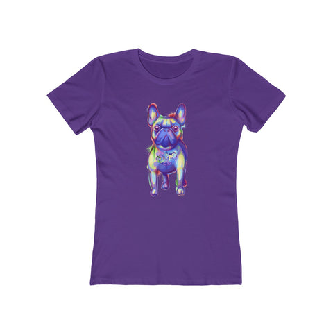 French Bulldog Colorful Women's Boyfriend Tee - 14 Colors