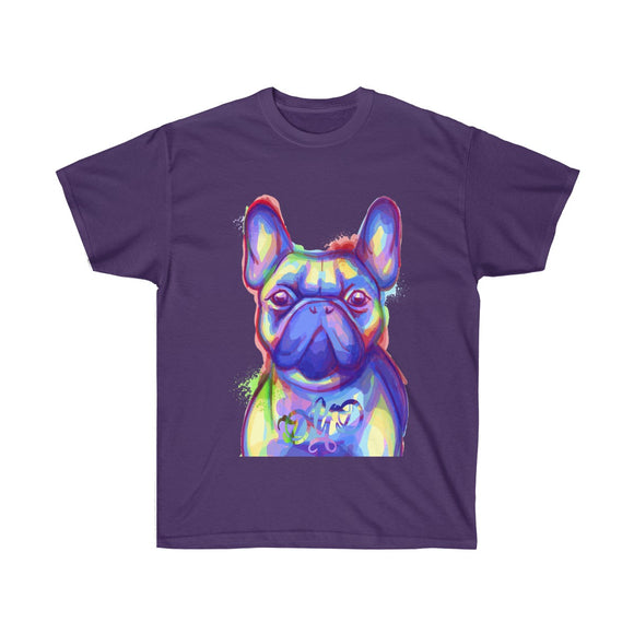 French Bulldog Face Colorful T-Shirt - 12 Colors