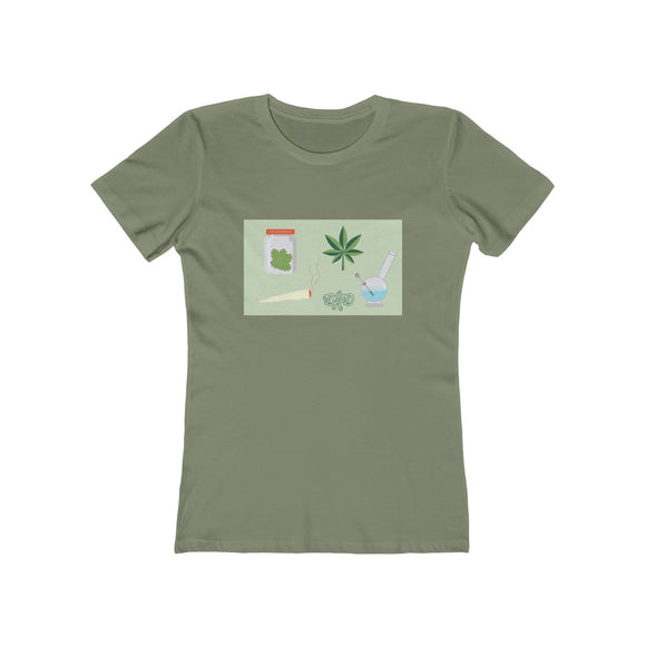 Smoke Break Women's Boyfriend Tee - 14 Colors
