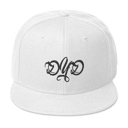 DYD 3-D Puff Embroidered SnapBack / White Logo - 21 Colors