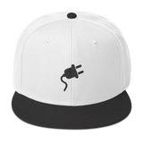 Plugged In 3-D Puff Embroidered SnapBack / Black Logo - 21 Colors