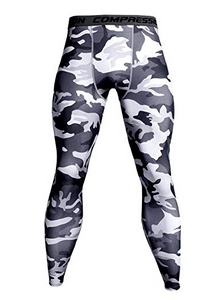 Mens Camo Tights -black and white