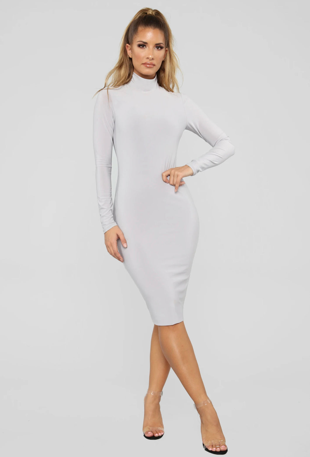 Classic high neck dress