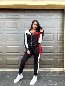 V Colour Block Tracksuit