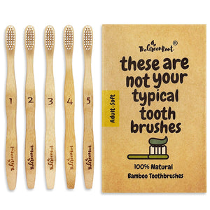 Bamboo Classic Toothbrush For Adults - 5 Pack