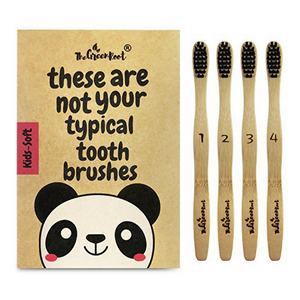 Bamboo Kids Zero Waste Toothbrush - 4 Pack eco friendly sustainable plastic free natural