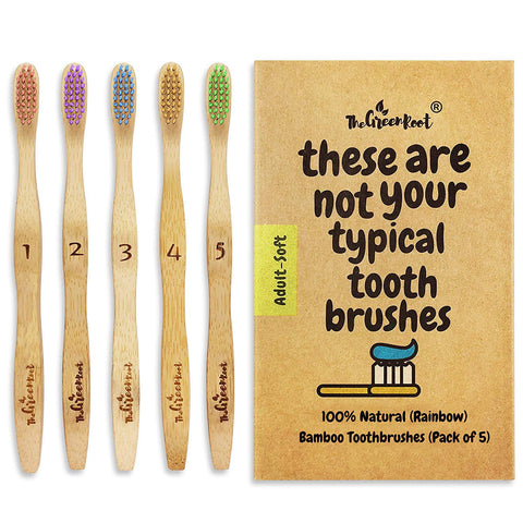 Multicolor Bamboo Toothbrushes