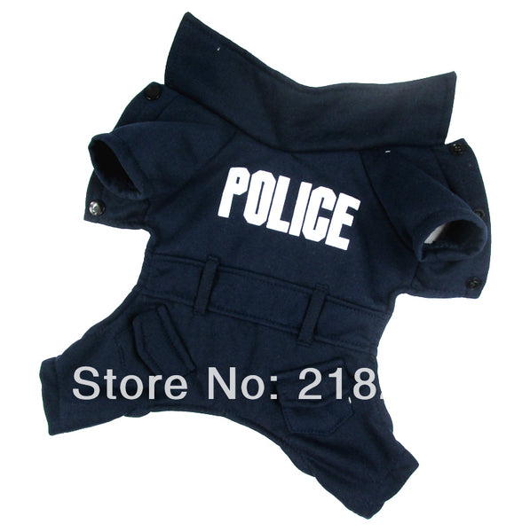 Dark blue English police Pet Dogs Coat