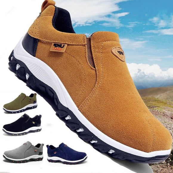 Men Genuine Leather Waterproof Hiking Boots