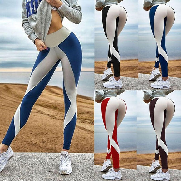 Fashion Hot Woman Black and White Digital Printing Sports Fitness Pants Women Yoga Pants