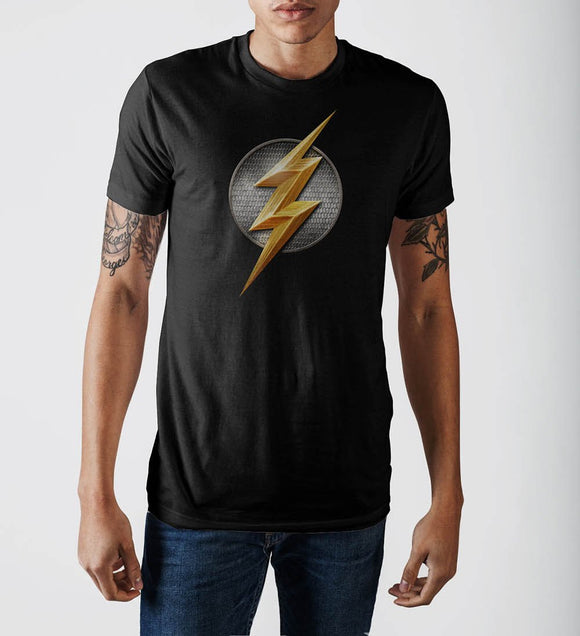 SUPERHERO Justice League Flash Logo T-Shirt