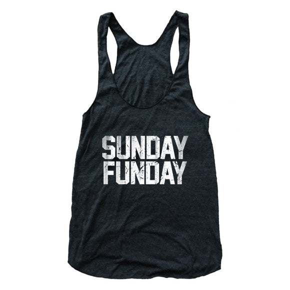 Sunday Funday Tri Blend Athletic Racerback Tank Top