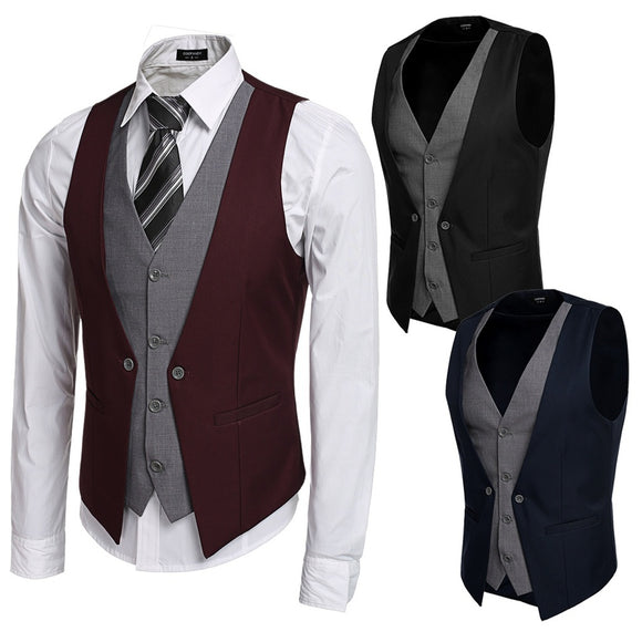 Men's Formal Business Suit Vest