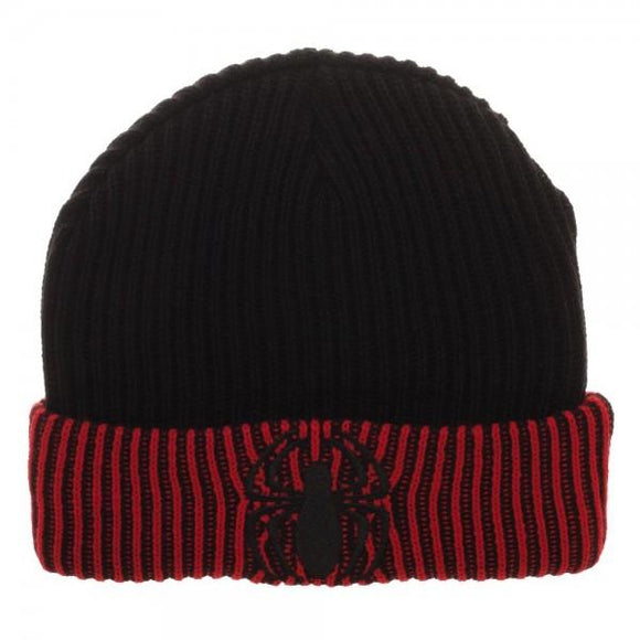 SUPERHERO Spiderman Logo Embroider Reversible Acrylic Wool Beanie