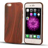 Silicone Wood Case For iPhone Models