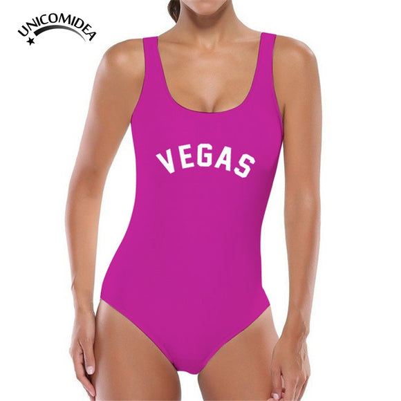Sexy VEGAS One Piece Swimsuit Ladies Thong