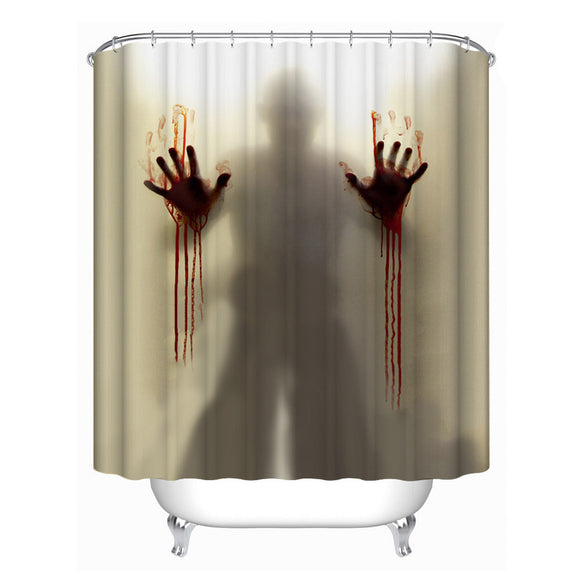 Halloween Waterproof Polyester Fabric Shower Curtain